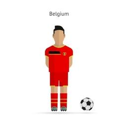 National football player Belgium soccer team vector image vector image