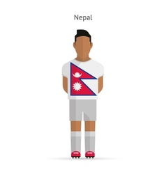 Nepal football player soccer uniform vector