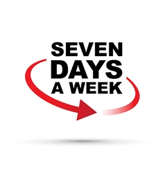 seven days red vector image vector image