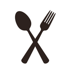 spoon and fork sign vector image vector image