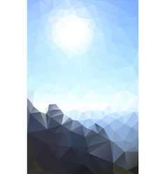 Sun and rock vector