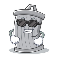 Super cool trash character cartoon style vector
