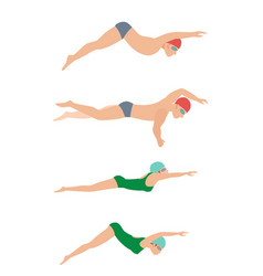 swimming style scheme vector image
