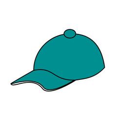 Teal hat design vector