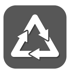 The waste processing icon Bio symbol Flat vector image