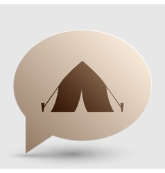 Tourist tent sign brown gradient icon on bubble vector