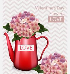 Valentine day flowers bouquet retro vector