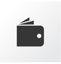 wallet icon symbol premium quality isolated vector image
