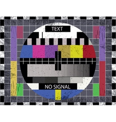 Television static vector image