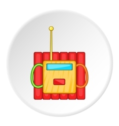 Dynamite explosives icon cartoon style vector