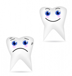 tooth icons vector image