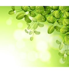 A stationery with green plants vector