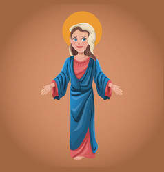 Virgin mary spiritual belief blessed vector