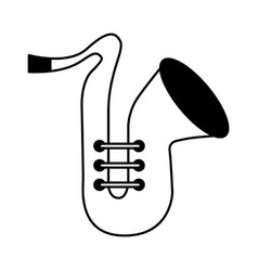 Saxophone musical isntrument icon vector