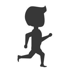 Man running cartoon vector