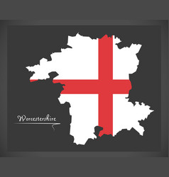 Worcestershire map england uk with english vector