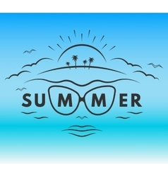 The emblem on the theme of summer holiday vector
