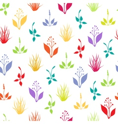 Seamless pattern with herbs vector
