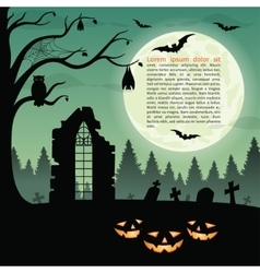 Halloween party background vector