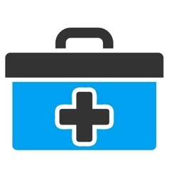 First aid toolbox icon vector