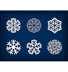 Set of winter snowflake vector image