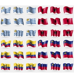 Uruguay albania ecuador liechtenstein set of 36 vector