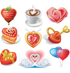Heart-shaped set vector