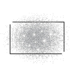 Frame for text and a scattering of silver sand vector