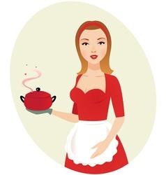 sexy girl chef vector image
