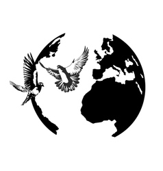 Earth and the doves vector