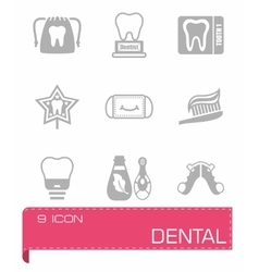 Dental icon set vector