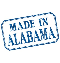 Alabama - made in blue vintage isolated label vector