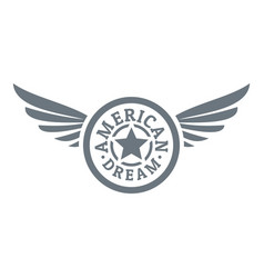 American dream logo simple style vector