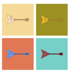 Assembly flat icons kids toy balalaika vector