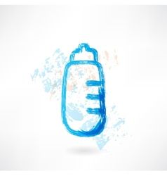 Baby bottle grunge icon vector