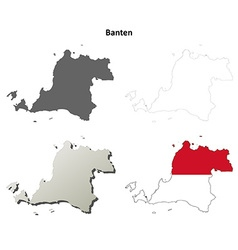 Banten blank outline map set vector