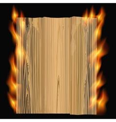 burning wood vector image vector image