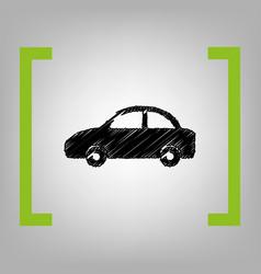 Car sign black scribble icon vector
