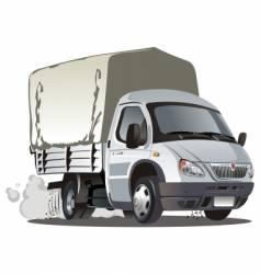 cartoon truck vector image