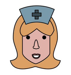 cute nurse cartoon vector image