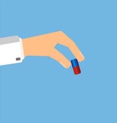 Doctor giving medicine pill healthcare concept vector