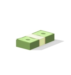 Dollar money pile cash stack flat isometric pack vector