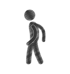 Drawing man standing posing figure pictogram vector
