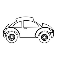 Figure sport car side icon vector