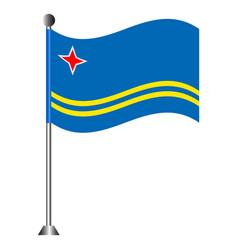 flag of aruba vector image vector image