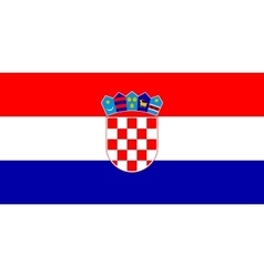 Flag of Croatia in correct size and colors vector image vector image