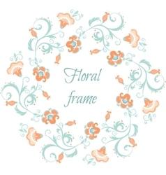 Floral garland Flower border frame in pastel vector image vector image