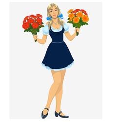florist girl vector image