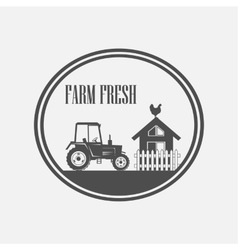 Fresh farm produce vector