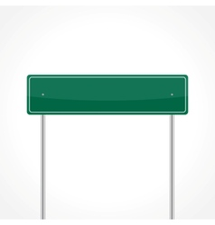 Green traffic sign vector image vector image